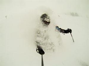 Pete Kvist skiing at Vail, Colorado in 2013